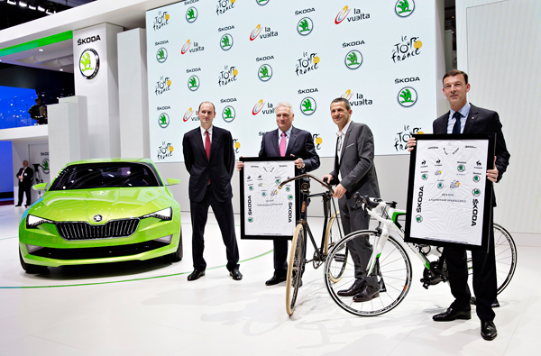 SKODA Partner Tour de France tot 2018 presentation