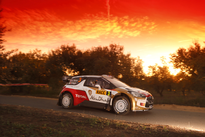 MEEKE WRC SPAIN sunset