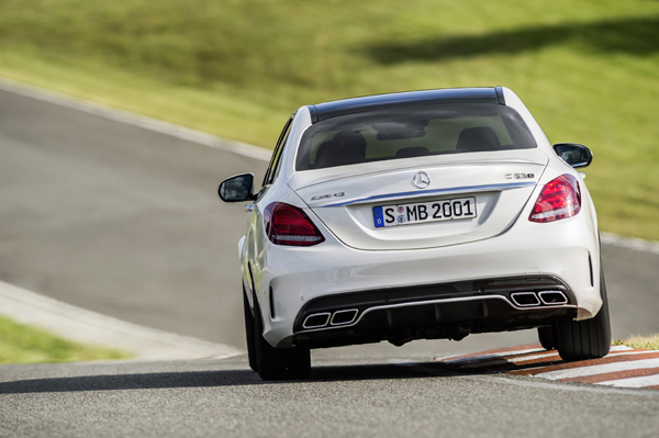 Mercedes-Benz AMG C 63 white back