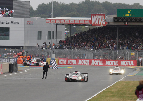 Audi Le Mans 2015 finish