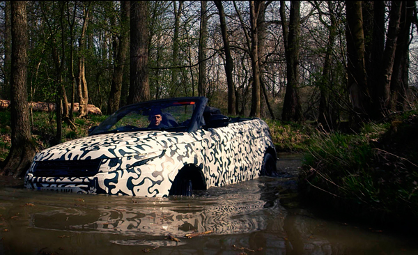 Range Rover Evoque Convertible testing water
