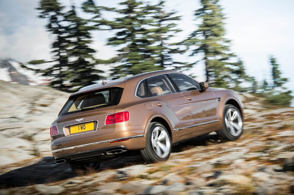 Bentley Bentayga back dynamic
