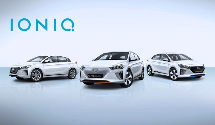 All New IONIQ line up header
