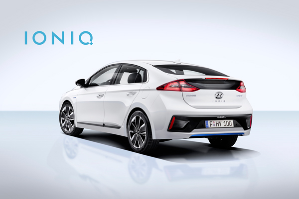 Hyundai IONIQ with Logo back