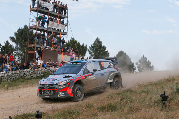 Kevin Abbring i20 rally Italia action