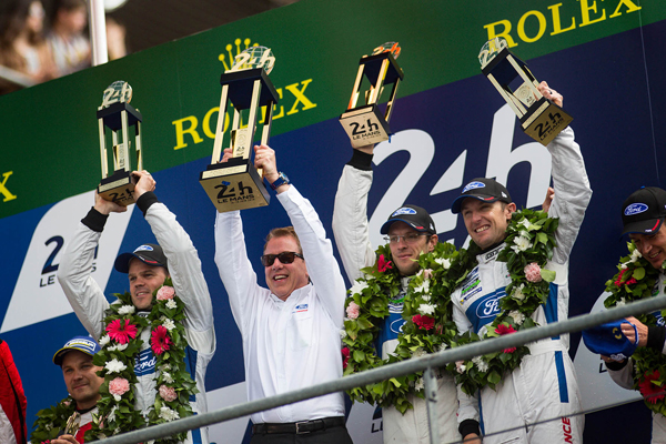 Ford Le-Mans victory podium