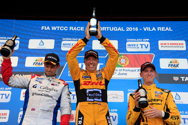 Tom Coronel WTCC Portugal zege stage