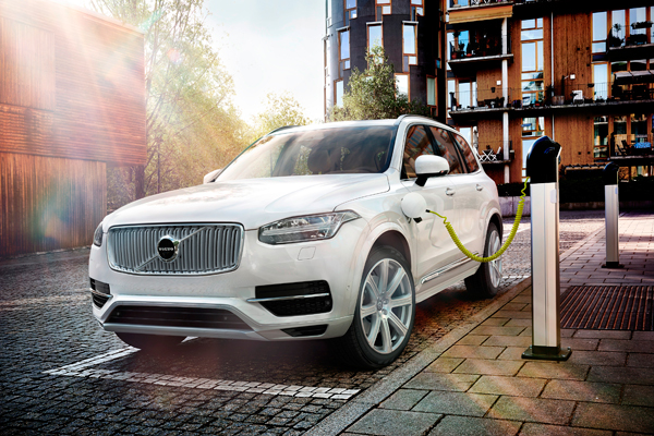 The all new Volvo XC90 charging