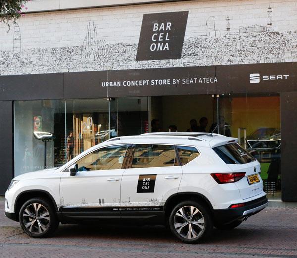 barcelona in utrecht urban concept store by seat ateca autoplus. Black Bedroom Furniture Sets. Home Design Ideas
