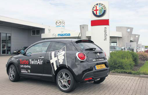 Alfa MiTo TwinAir turbo back