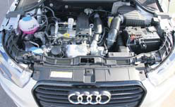 Audi A1 Admired motorcompartiment