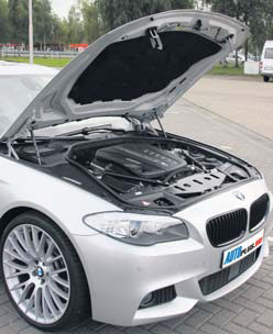 BMW 5-Serie motorcompartiment