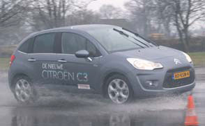 Citroen C3 test slipvlak