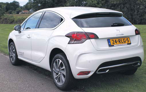 Citroen DS4 test achterkant