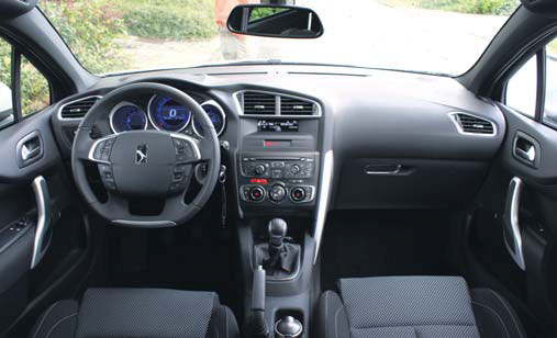 Citroen DS4 test interieur