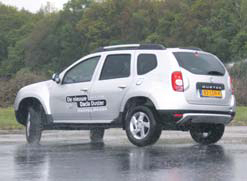 Dacia Duster test slipvlak