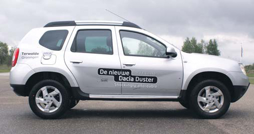Dacia Duster test zijkant