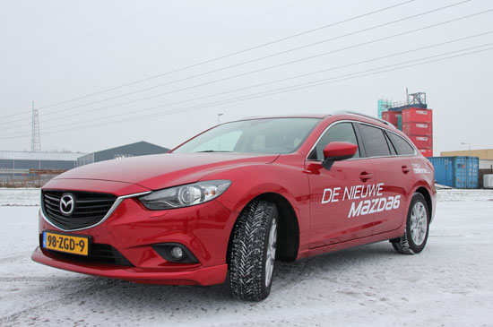 Mazda6 Sportbreak driekwart snow