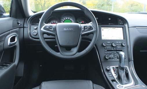 Saab 9-5 Sedan test interieur
