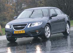 Saab 9-5 Sedan test slipvlak