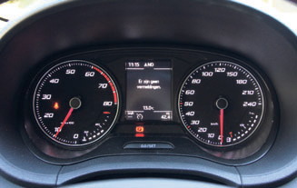 Seat Ibiza EcoTSI FR Connect clocks