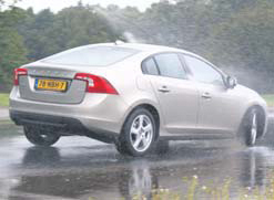 Volvo S60 test slipvlak