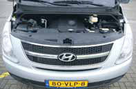 Hyundai H300 test motorcompartiment