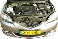 Mazda3 Sport 1.6 CiTD motorcompartiment
