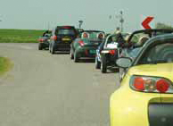 smart Roadster cabriodag driving