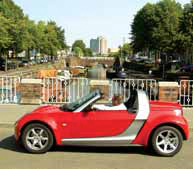 smart Roadster test zijkant