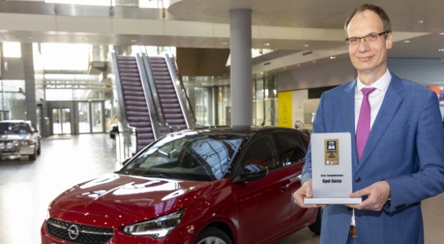 Nieuwe Opel Corsa wint 'Connected Car Award'