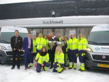 Nieuwe groengas bussen voor Dierenambulance Groningen!