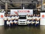 Productie Europese Suzuki fabriek overstijgt 2,5 miljoen auto's