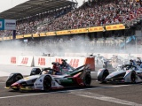 Audi wint voor 3e jaar op rij E-Prix van Mexico