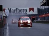 Alfa Romeo 155 DTM in actie tijdens het Spettacolo Sportivo