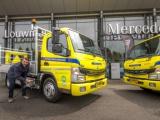 Eerste twee FUSO eCanters voor Traffic Service Nederland