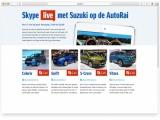 """Suzuki op de AutoRAI: twee primeurs èn interactief met """"Suzuki Live"""""""