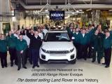 Productiemijlpaal voor Range Rover Evoque: 500.000 keer geproduceerd