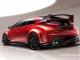 Werelddebuut conceptmodel Honda Civic Type R op 2014 Geneva Motor Show